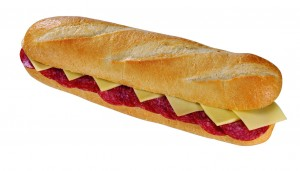 Salami Käse Baguette 1er